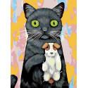 Любимая игрушка-собачка Раскраска картина по номерам на холсте A326