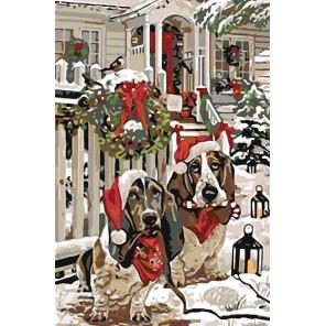 Раскладка Накануне Рождества Раскраска картина по номерам на холсте A190