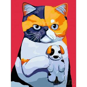 Любимая игрушка-щенок Раскраска картина по номерам на холсте A294