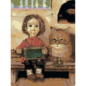 Раскладка Парочка друзей Раскраска картина по номерам на холсте RA008