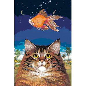Сон с рыбкой Раскраска по номерам на холсте Живопись по номерам A426