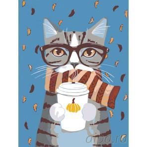 Согревающий кофе Раскраска по номерам на холсте Живопись по номерам A198