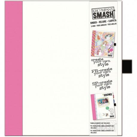Розовая Папка-скоросшиватель Смэшбук Smash K&Company