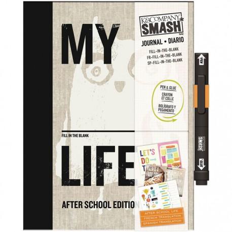 После школы Смэшбук блокнот книжка для скрапбукинга Pretty Pink Smash K&Company