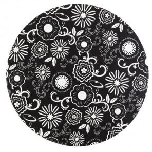 Черно-белые цветы Основа для торта круглая Wilton ( Вилтон )