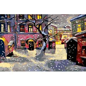 Снег в городке Раскраска по номерам на холсте Живопись по номерам Z31383