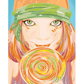 Гипнотический взгляд Раскраска по номерам на холсте Живопись по номерам PA82
