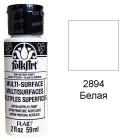 2894 Белая Для любой поверхности Сатиновая акриловая краска Multi-Surface Folkart Plaid