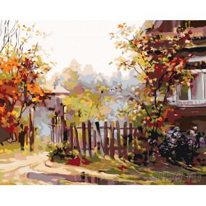 Осенняя калитка Раскраска по номерам на холсте Живопись по номерам ARTH-AH273