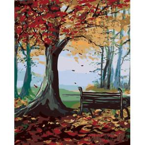 Схема Осень и тишина Раскраска по номерам на холсте Живопись по номерам RA118