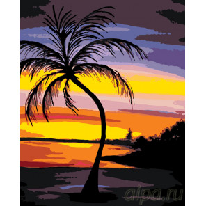 Закат на райском острове Раскраска по номерам на холсте Живопись по номерам RA139