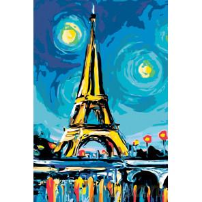 Красочный вечер в Париже Раскраска по номерам на холсте Живопись по номерам RA150