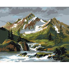 Схема Альпийские склоны Раскраска по номерам на холсте Живопись по номерам PP14