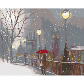 Первый снег Раскраска по номерам на холсте Живопись по номерам RO13