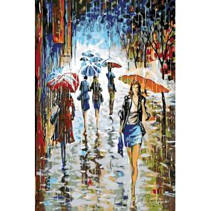 Серебристый дождь Раскраска по номерам на холсте Живопись по номерам RO29