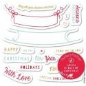 Пожелания к Рождеству Штампы резиновые для скрапбукинга, кардмейкинга Docrafts