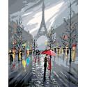 Сны о Париже Раскраска по номерам на холсте Живопись по номерам RO54