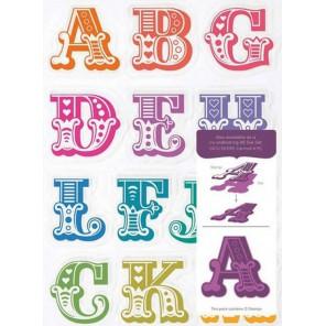 A-M заглавные Английский алфавит Набор прозрачных штампов для скрапбукинга, кардмейкинга Docrafts