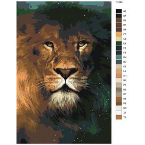 Схема Лев повелитель Раскраска по номерам на холсте Живопись по номерам ANNA-11080