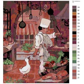 Раскладка Главный повар Раскраска по номерам на холсте Живопись по номерам ARTH-AlsuV