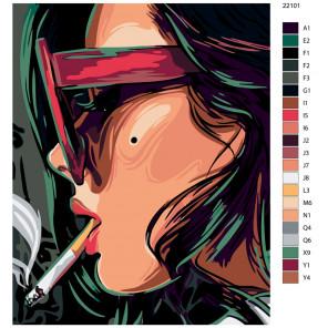 Схема Перерыв Раскраска по номерам на холсте Живопись по номерам AYAY-22101
