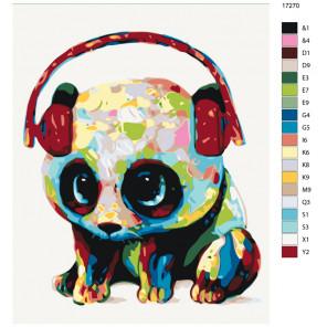 Раскладка Музыкальная панда Раскраска по номерам на холсте Живопись по номерам KTMK-17270