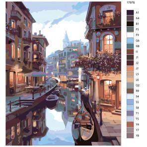 Раскладка Венецианская дымка Раскраска по номерам на холсте Живопись по номерам KTMK-17978