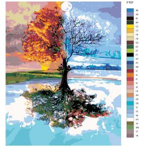 Раскладка Четыре сезона Раскраска по номерам на холсте Живопись по номерам FT07