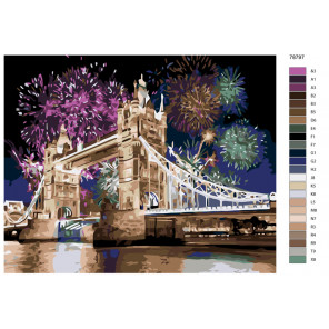 Раскладка Праздничный Лондон Раскраска по номерам на холсте Живопись по номерам KTMK-78797