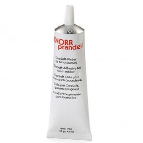 Клей для соединения вспененой резины с каучуком, деревом, бумагой, кожей, керамикой, тканью , пенопл