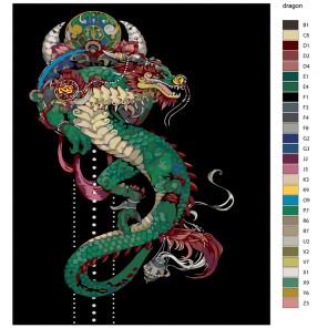 Раскладка Символ мудрости Раскраска по номерам на холсте Живопись по номерам NA-dragon