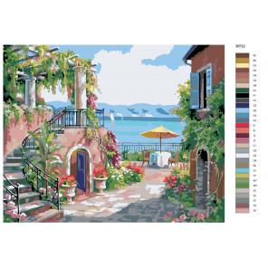 Раскладка Курортный городок Раскраска по номерам на холсте Живопись по номерам RP33