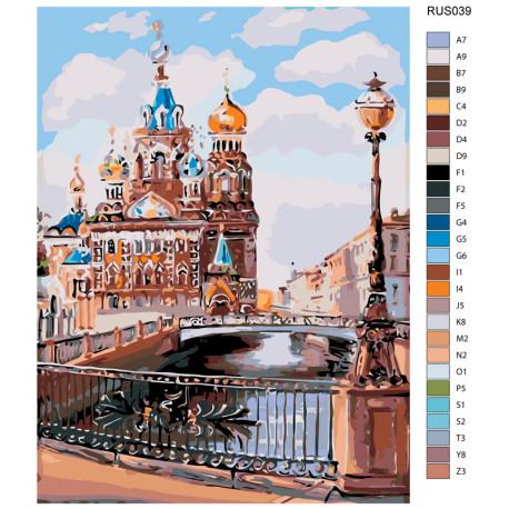 RUS039-60x80 Каналы Санкт-Петербурга Раскраска по номерам ...