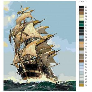 Раскладка Покорители волн Раскраска по номерам на холсте Живопись по номерам Z-Z101472