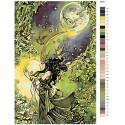 Раскладка Лунная повелительница Раскраска по номерам на холсте Живопись по номерам Z-Z916