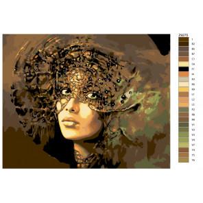Раскладка Богиня Гея Раскраска по номерам на холсте Живопись по номерам Z-Z9275