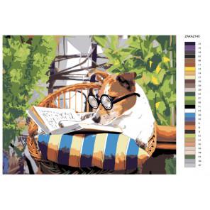 Раскладка Ученый пес Раскраска по номерам на холсте Живопись по номерам Z-ZAKAZ140