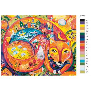 Раскладка Мир лисицы Раскраска по номерам на холсте Живопись по номерам Z-zn3990