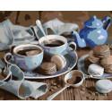 Чай с пирожными Раскраска картина по номерам на холсте KTMK-73766