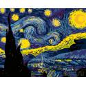 Звезды в ночи Раскраска картина по номерам на холсте