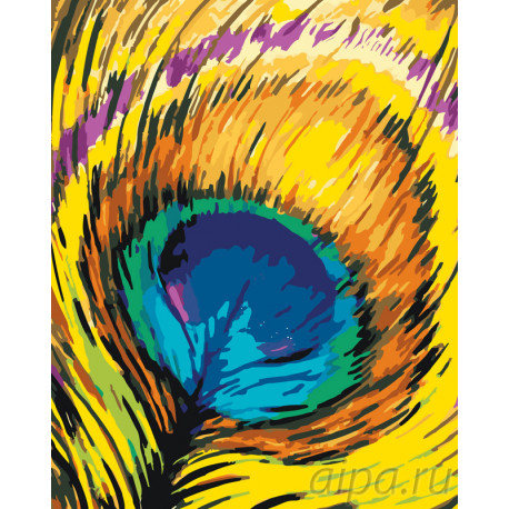 яркое перо павлина раскраска картина по номерам на холсте Ra198 80x100