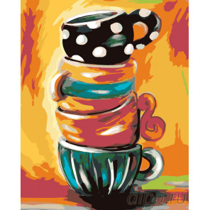 Чашки для гостей Раскраска картина по номерам на холсте RA218