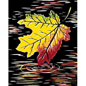 Осенний лист Раскраска картина по номерам на холсте RA224