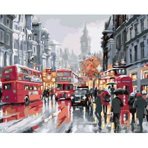Пасмурный день в Лондоне Раскраска картина по номерам на холсте KTMK-49020