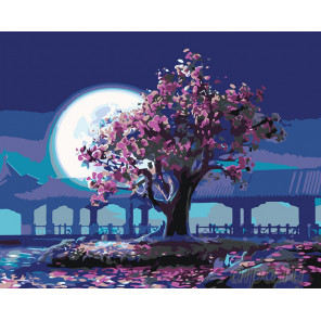 Раскладка Дерево мудрости Раскраска картина по номерам на холсте KTMK-07909