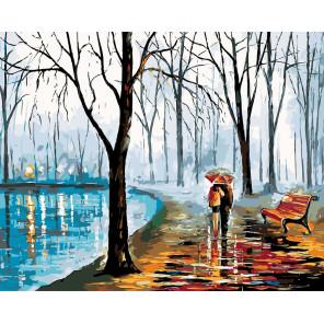 раскладка Безмолвная прогулка Раскраска картина по номерам на холсте RO113