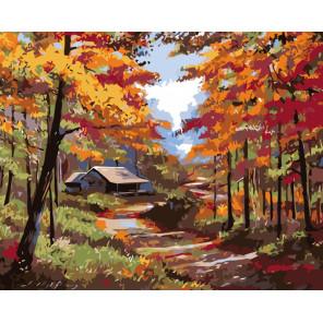 раскладка Осенняя идилия Раскраска картина по номерам на холсте