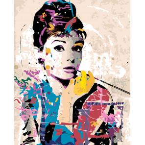 Красочная Одри Раскраска картина по номерам на холсте KTMK-48373