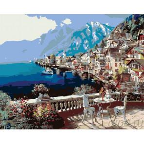 Терраса у моря Раскраска картина по номерам на холсте KTMK-29155