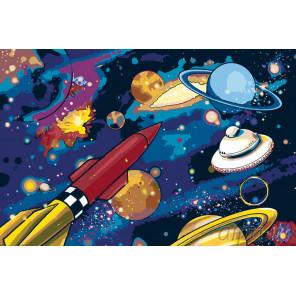 Космические просторы Раскраска картина по номерам на холсте GU-ZGUS101100114